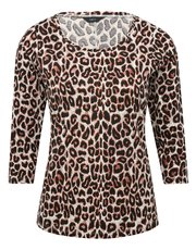 Leopard print twist neck top