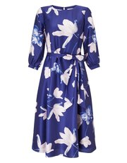 Jacques Vert flared print long sleeve dress