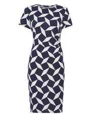 Roman Originals geo crepe print dress