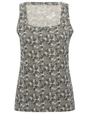 Palm print square neck vest top