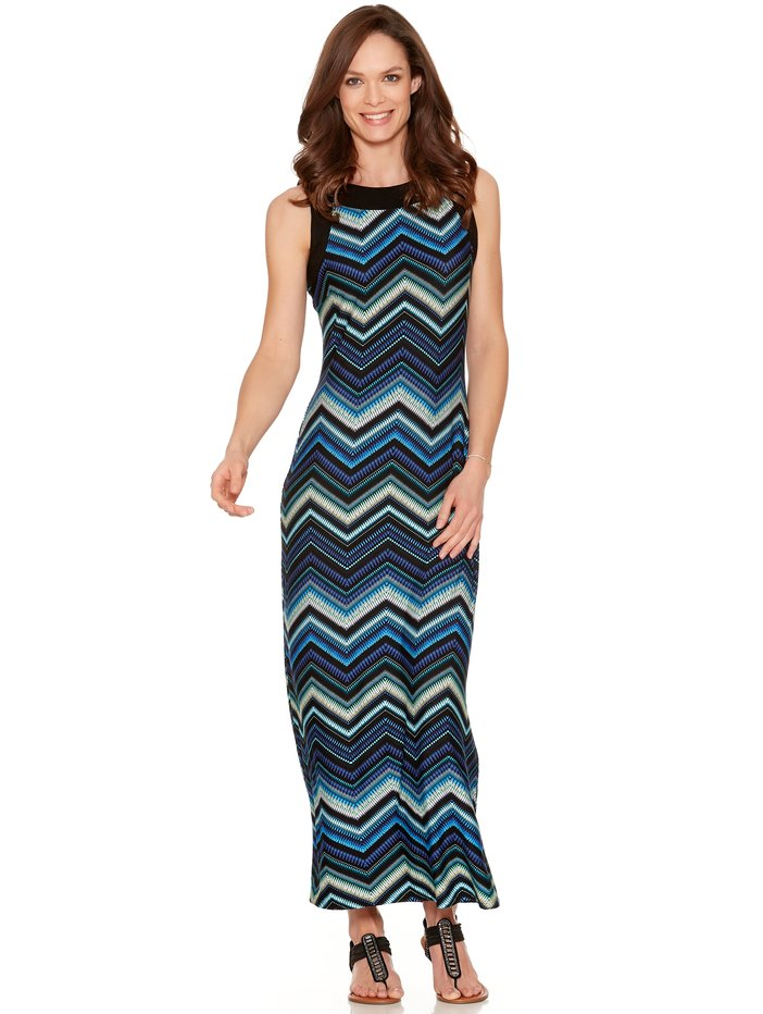 Maxi dresses are ideal for dressing up or down, and they offer lots of accessorizing opportunities. Hit the beach with a straw hat, tote, a pair of strappy sandals, and our summer-ready gauze maxi. Go from day to night in a snap with a pair of heels, a sparkly clutch, and our solid, ankle-skimming sleeveless knit dress.