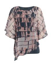 VIZ-A-VIZ layered 2 in 1 all over print top