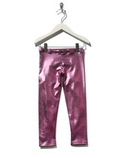 Pink metallic leggings