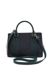 Navy colour block tote bag