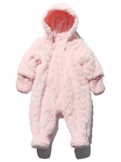 Heart embossed pramsuit
