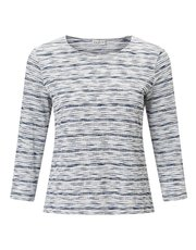 Eastex textured stripe jersey top