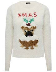Sequin pug Christmas jumper