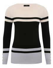 Ribbed block stripe jumper