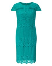 Precis Petite lace and pintuck shift dress