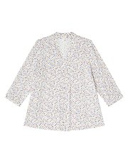 Dash small floral texture blouse