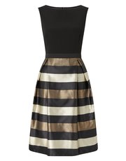 Precis Petite stripe metallic dress