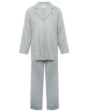 Heart print fleece pyjamas
