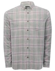 Grey checked long sleeve shirt