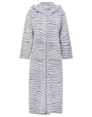 Animal fleece zip robe