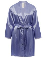 Satin wrap robe