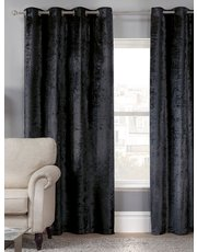 Julian Charles Allure black eyelet curtains