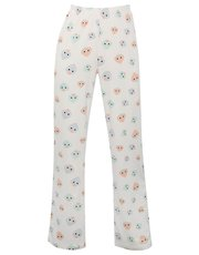 Face print pyjama trousers