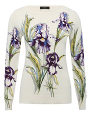 Floral lily print jumper