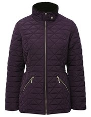 Quilted borg collar jacket