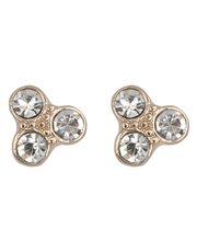 Triple diamonte stud earrings