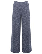 Ribbed wide leg loungewear trousers