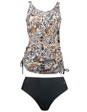 Naturana animal print tankini set