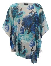 Plus batwing floral tunic top