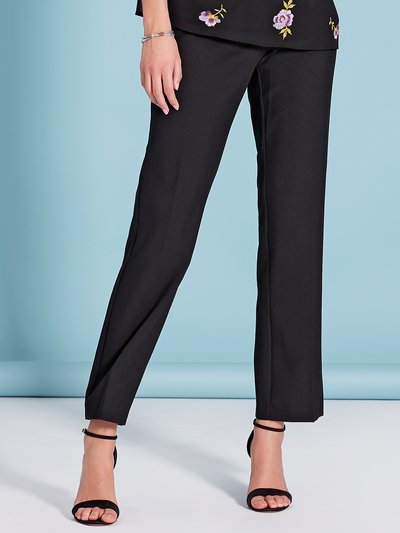 High waisted straight leg trousers