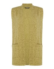 TIGI sleeveless two pocket cardigan