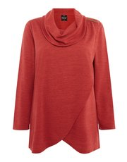 TIGI detailed cowl neck tunic top
