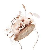 Jacques Vert large flower pillbox headpiece