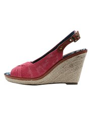 Safi slingback denim wedge
