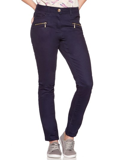 Zip detail slim leg jean