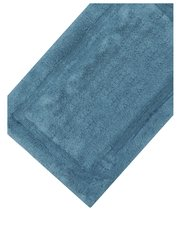 Grey cotton deep pile bathmat