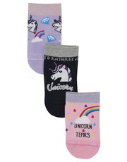 Unicorn rainbow socks three pack