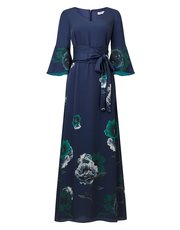 Jacques Vert baroque fleur maxi dress