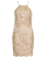 Quiz embroidered bodycon dress