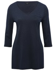Plain jersey tunic top