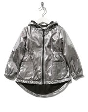 Metallic lightweight parka jacket