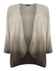 VIZ-A-VIZ 3/4 sleeve waterfall cardigan