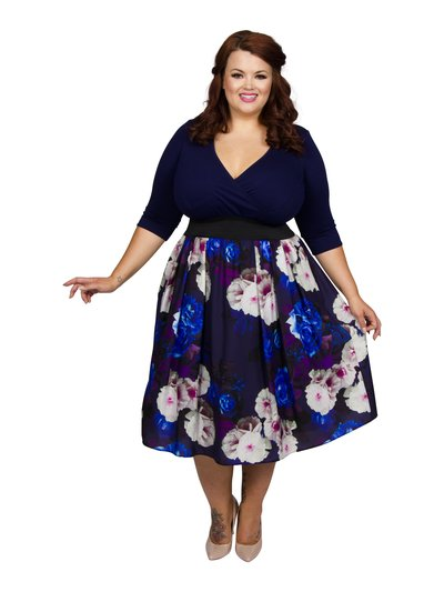 Scarlett and Jo plus wrap floral print 2 in 1 dress