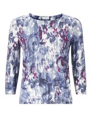 Eastex floral tapestry print top