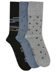 Gentle Grip pattern mix socks