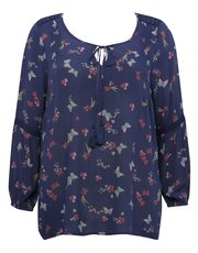 Plus floral print gypsy top