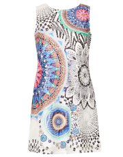 Izabel sleeveless printed shift dress
