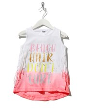 Beach slogan fringe vest top