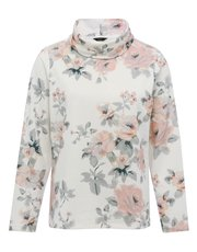 Floral print roll neck top