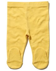 Mustard joggers with feet