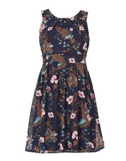 Izabel tie waist floral dress