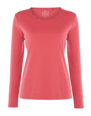 TIGI sequined jersey top
